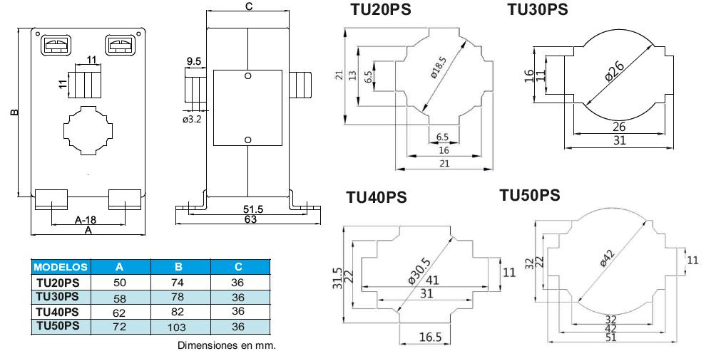 TU2020PS, TU30PS, TU40PS, TU50PS